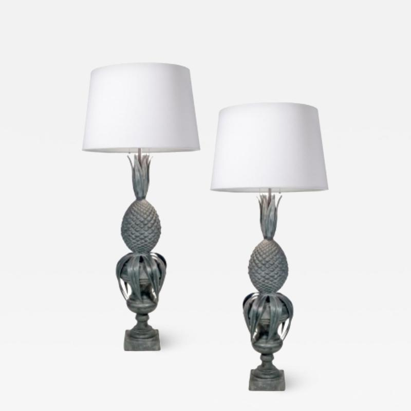 Zinc Pineapple Lamps