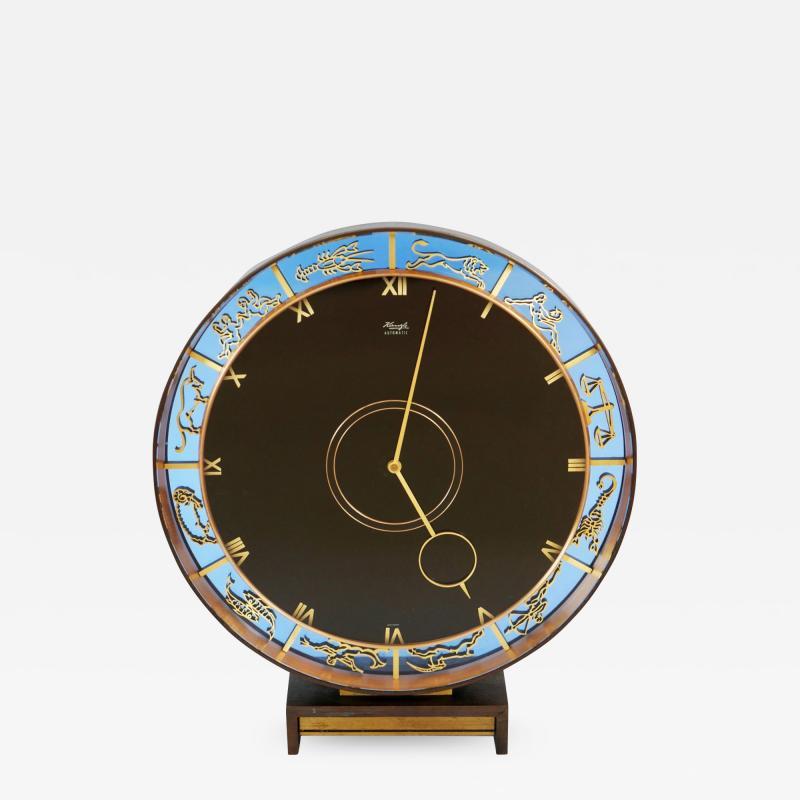 Zodiac Clock by Kienzle in Bronze