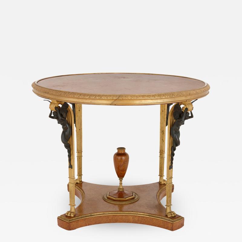 Zwiener Jansen Successeur Antique ormolu mounted centre table by Zwiener Jansen Successeur