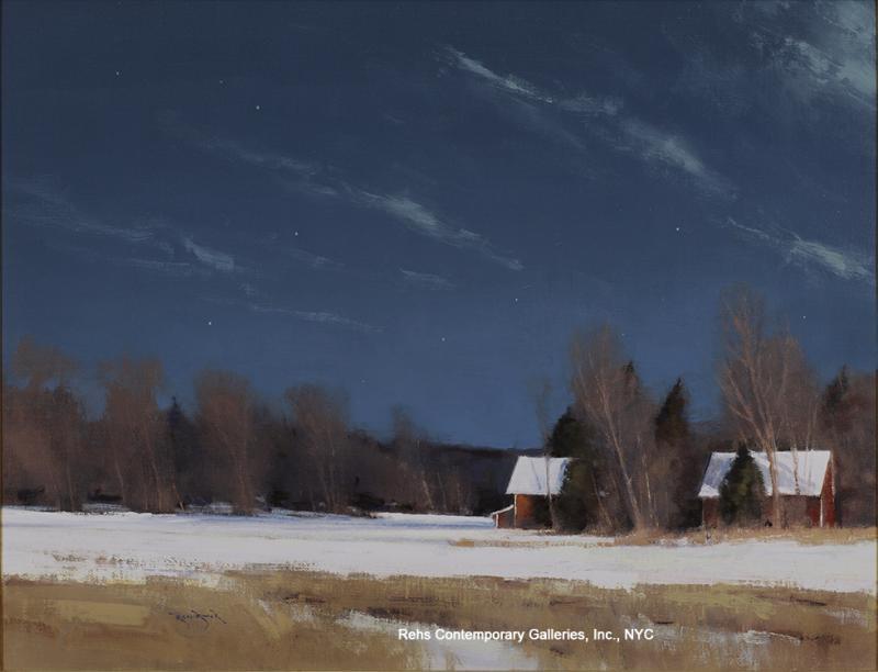 Ben Bauer Grant Township Farm by Moonlight