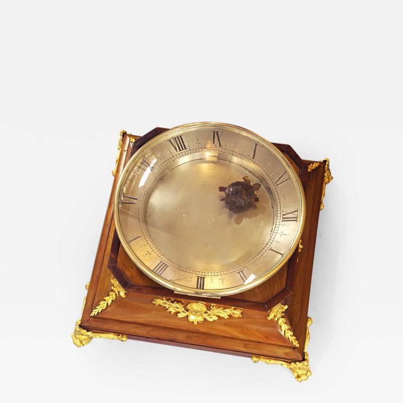c 1925 French Mahogany Mystery Turtle Clock