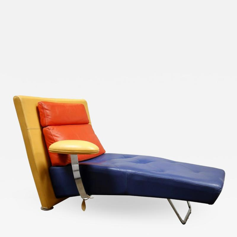 gamma arredamenti Leather Chaise by Gamma Arredamenti