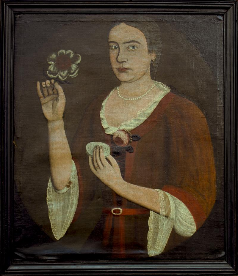 Pieter Vanderlyn Portrait of Elizabeth Van Dyck Vosburg
