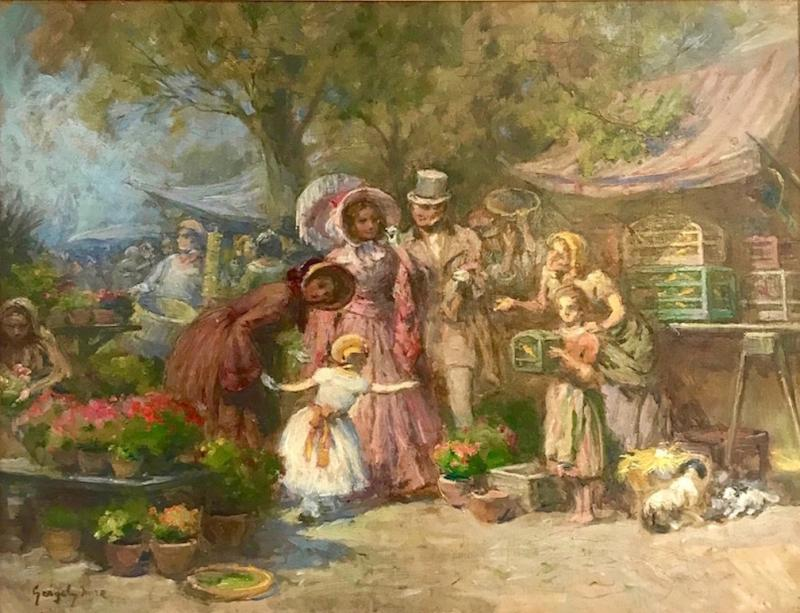 the market day by Imre GERGELY 1868 1914