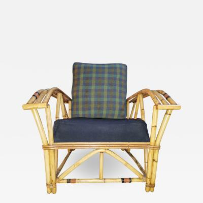 940s Bamboo Rattan Lounge Chair