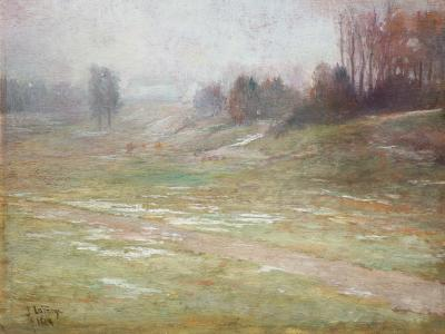 A J Kollar Fine Paintings John La Farge 1836 1910 Winter Thaw 1874