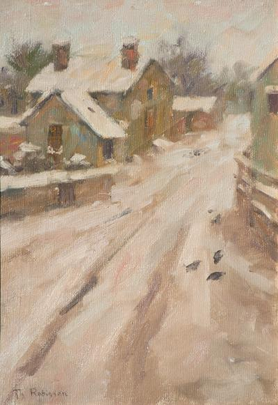 A J Kollar Fine Paintings Theodore Robinson 1852 1896 Country Road ca 1889