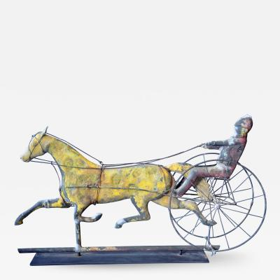 A L Jewell Co Horse Sulky Weathervane