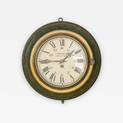 A Martens Cie Paris Vintage Industrial French Tole Wall Clock