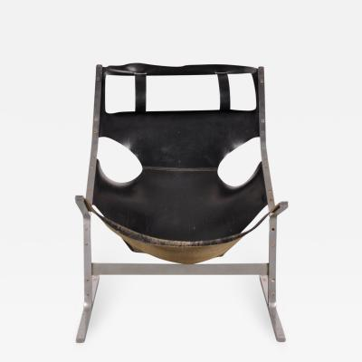 A Polak 1960s Leather Lounge Chair by Polak Netherlands
