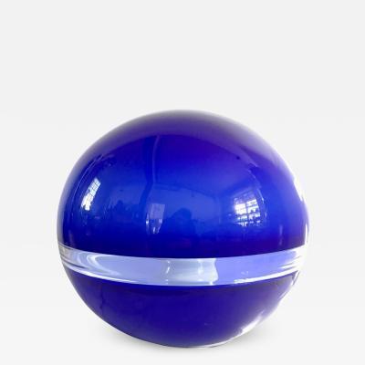 A V Mazzega Blue Murano Glass Lamp
