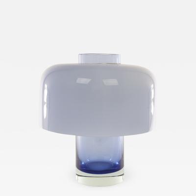 A V Mazzega Blue Murano glass LT 226 table lamp by Carlo Nason for A V Mazzega 1960s