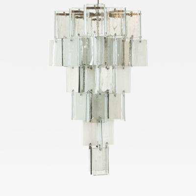 A V Mazzega Large Vintage Murano Pendant Light Attributed to AV Mazzega