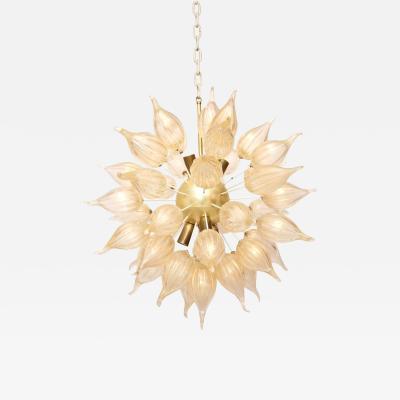 A V Mazzega Murano Gold Glass Mid Century Modern Sputnik Chandelier by Mazzega