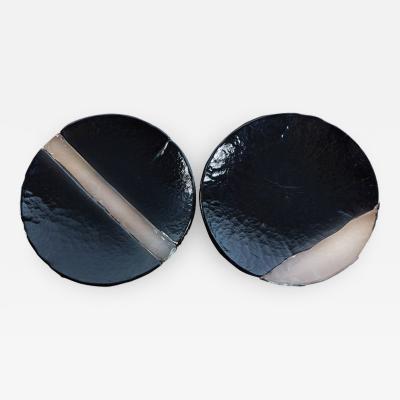 A V Mazzega Set of Two Murano Glass Centerpieces by Mazzega