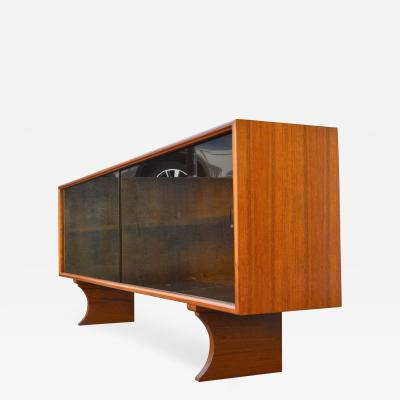 ACO Mobler Quality Teak Smoked Glass Cabinet TV Stand by ACO Mobler