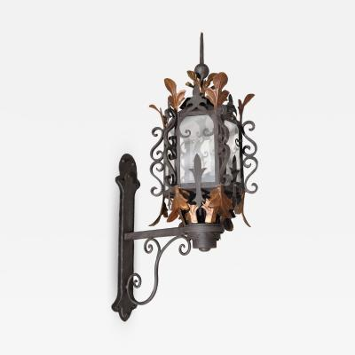 ADG Lighting 863 Wrought Iron Leaf Lantern
