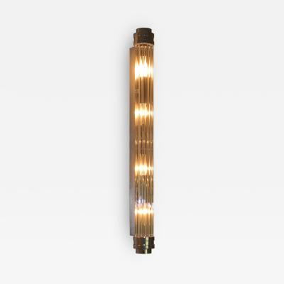 ADG Lighting 90762 Glass Rod Nickel Sconce ADG Lighting