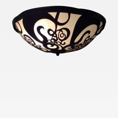 ADG Lighting Filigree Bowl Handing Pendant Waterjet Cut Light Fixture