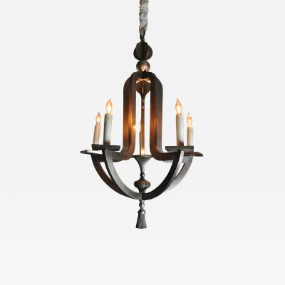 ADG Lighting Hand made pewter finished chandelier with led uplight