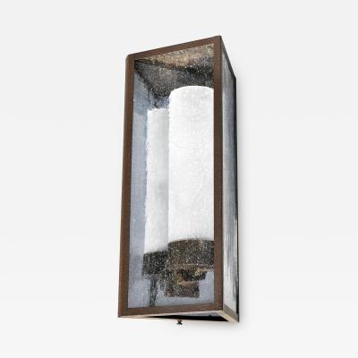 ADG Lighting Mirrored Back Triangle Lantern Heavy Seedy