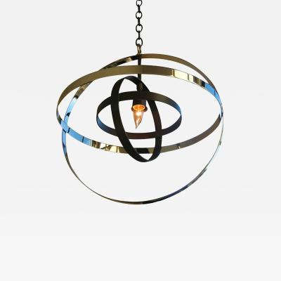 ADG Lighting Nickel and Oil Rubbed Bronze Transitional Pendant Contemporary