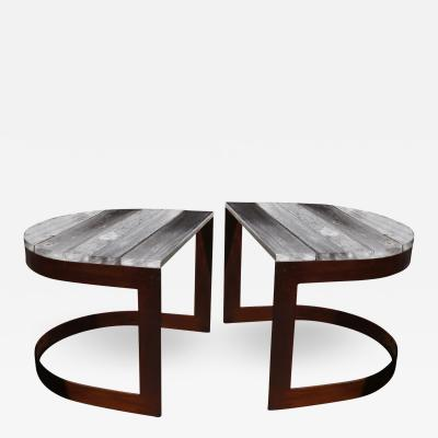 ADG Lighting Pair of U Shaped Side Tables