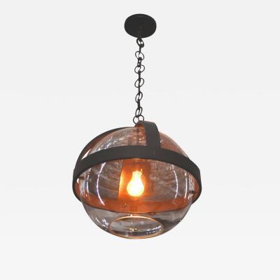 ADG Lighting Pyrex Glass Pendant Iron Strap