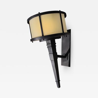 ADG Lighting Stainless Steel Brass Plated Torch Light Transitional
