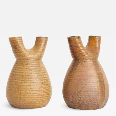 Accolay Pottery Pair of Ceramic Vases by Accolay