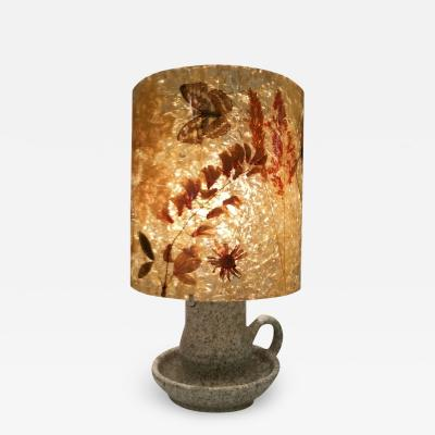 Accolay Pottery Stoneware and resin with inclusions lamp Accolay circa 1960