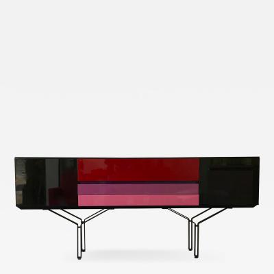 Acerbis Sideboard Console Lacquered Italy 1980s