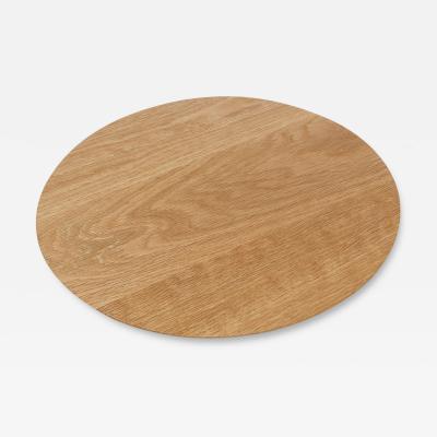 Adesso Studio Small Round Serving Board in Oak Walnut