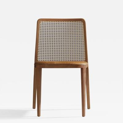 Adolini Simonini Minimal Style chair Solid Wood Leather or textiles Seating Caning Backboard