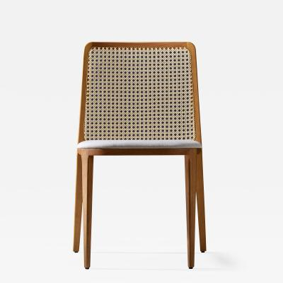 Adolini Simonini Minimal Style chair Solid Wood textiles or leather Seating Caning Backboard
