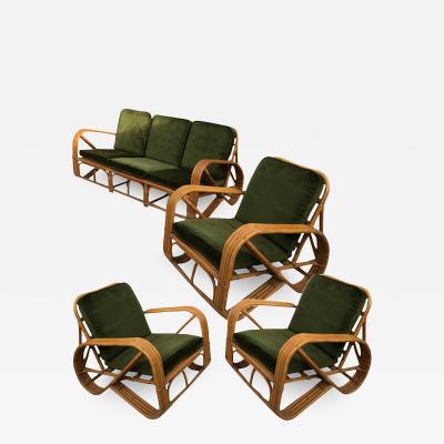Adrien Audoux Frida Minet A sofa and three armchairs Audoux Minnet France around 1950