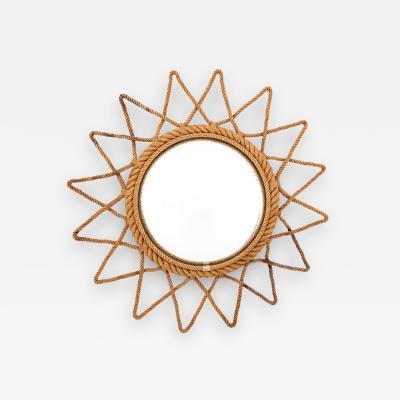 Adrien Audoux Frida Minet Audoux Minet Attributed Round Starburst Mirror