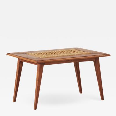 Adrien Audoux Frida Minet Audoux Minet rope coffee table Vibo Vesoul France 1940s