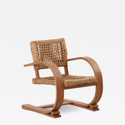 Adrien Audoux Frida Minet Audoux and Minet rope chair Vibo Vesoul France c1940 four available