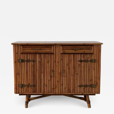 Adrien Audoux Frida Minet BAMBOO CABINET ATTRIBUTED TO AUDOUX MINET