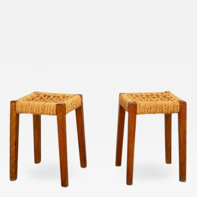 Adrien Audoux Frida Minet PAIR OF STOOLS BY AUDOUX MINET
