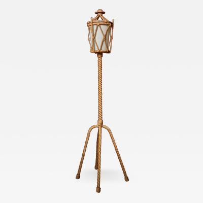 Adrien Audoux Frida Minet Rope Lantern Floor Lamp