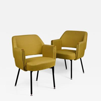 Airborne International Pair of Rare Deauville Armchairs by Marc and Pierre Simon for Airborne