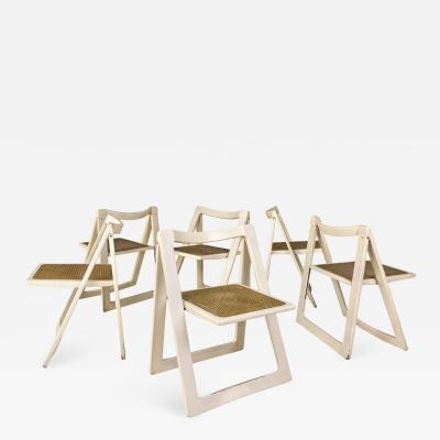 Aldo Jacober d Aniello Pierangela Set of 6 Jacober dAniello Trieste folding chairs for Bazzani 1966 Italy