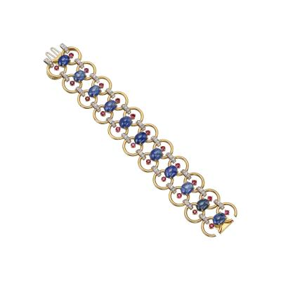 Aletto Brothers Aletto Brothers 18k Gold Gemstone Link Bracelet
