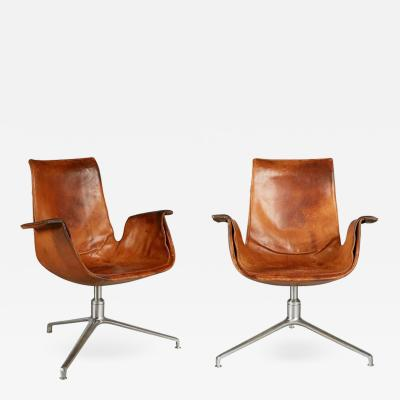 Alfred Kill International Distressed Bird Chairs by Preben Fabricius J rgen Kastholm for Alfred Kill