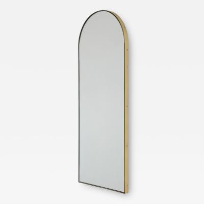 Alguacil Perkoff Ltd Arcus Arch shaped Elegant Narrow Mirror with a Brass Frame