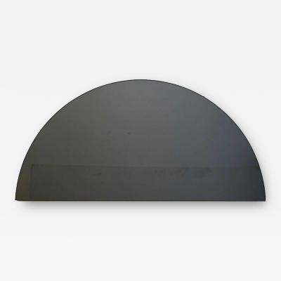 Alguacil Perkoff Ltd Luna Half Moon Black Tinted Mirror 1 Piece Frameless