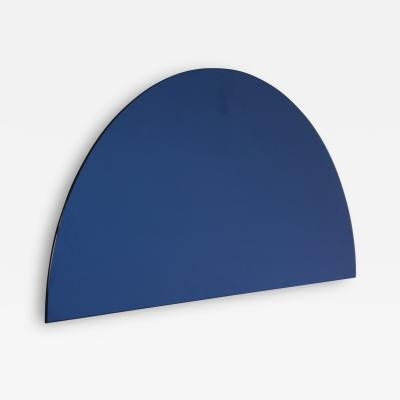 Alguacil Perkoff Ltd Luna Half Moon Blue Tinted Frameless Mirror 1 Piece