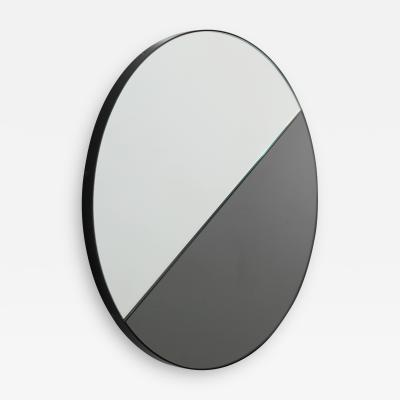 Alguacil Perkoff Ltd Orbis Dualis Round Mixed Tint Black Silver Mirror with Black Frame